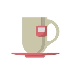 Tea cup drink design vector