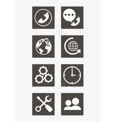 Online support or call center related icons image vector