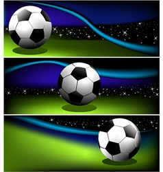 Abstract football banners vector