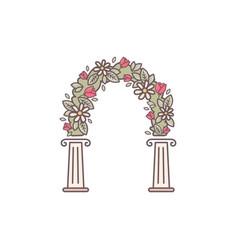 Decorative flower arch vector