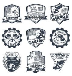 set of nine auto repair vector image
