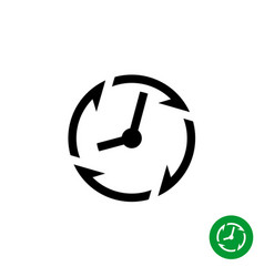 Long lifetime period icon timer with arrows vector