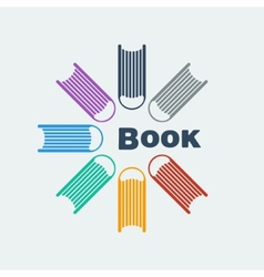 Symbol set of books vector