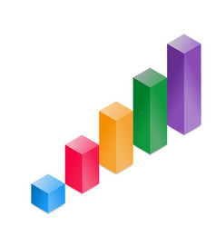 3d cube histogram vector image vector image