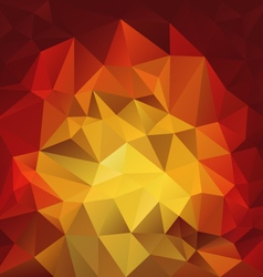Red fire flames polygonal triangular pattern vector