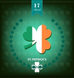 St patrick day background clover vector