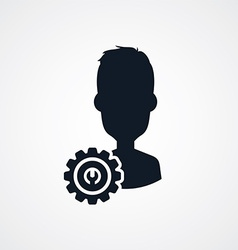 Avatar portrait cog setting icon theme vector