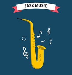 Jazz music icon vector