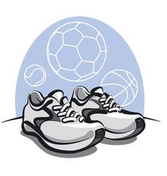 sport sneakers vector image