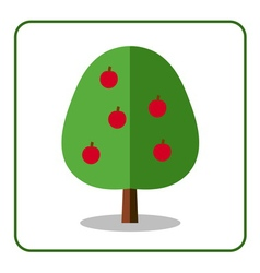 Apple tree icon vector