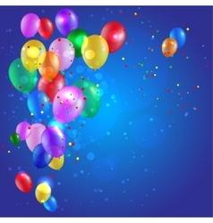 Color balloons vector