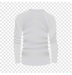 Back of white tshirt long sleeve mockup vector
