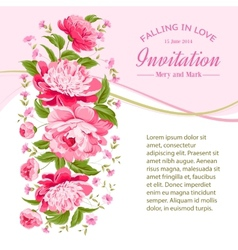 Card of color flowers vector image vector image