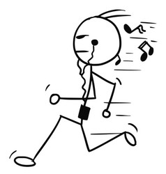 Cartoon of man jogging vector
