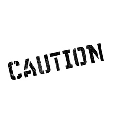 Caution rubber stamp vector