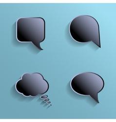 Chat bubbles - paper cut design Black color on vector image vector image