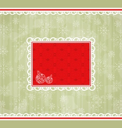 Christmas retro card ornamental design elements vector image vector image