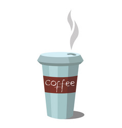 coffee glass icon vector image