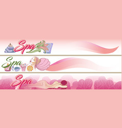 colored sketch spa horizontal banners vector image