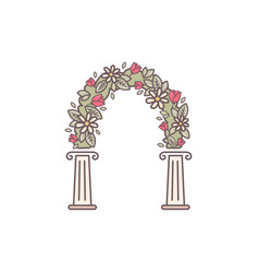 Decorative flower arch vector