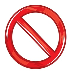 Do not symbol vector image vector image