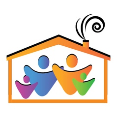 Family and house vector image vector image