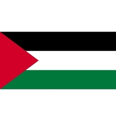 Flag of Palestine correct size and colors vector image vector image