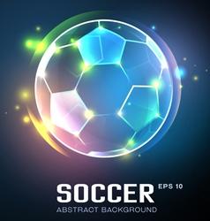 football abstract vector image vector image
