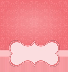 Frame on the paper background with design element vector image vector image