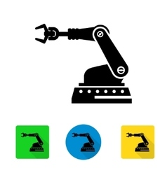 industrial robot arm icon vector image