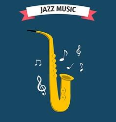 Jazz music icon vector image