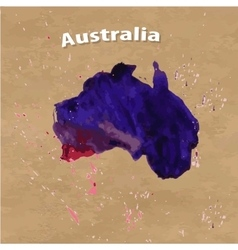 map of the Australia vector image