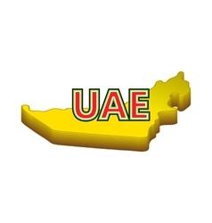 Map of uae icon cartoon style vector