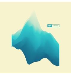 Mountain Landscape Mountainous Terrain Background vector image