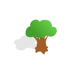 Oak tree icon isometric 3d style vector image vector image