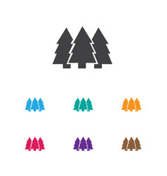 Of camping symbol on fir-tree vector