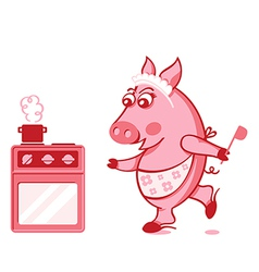 Piggy cook vector
