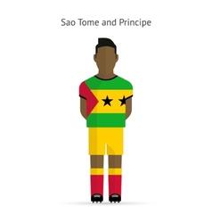 Sao tome and principe football player soccer vector