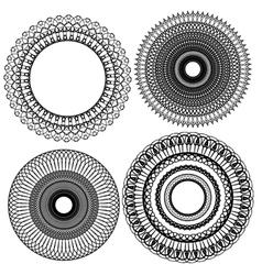 set circle 1color 5 380 vector image
