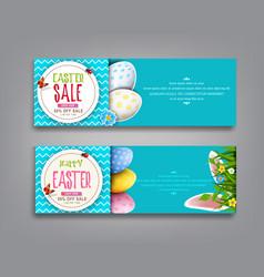 set easter vintage sale banner vector image vector image