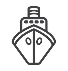 ship line icon transport and boat travel sign vector image vector image