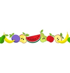 Tasty fruit pattern in line vector image