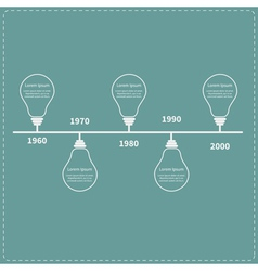 Timeline infographic with light idea bulb and text vector