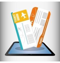 Travel ticket online technology digital vector