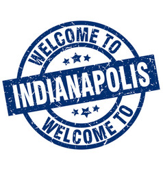 Welcome to indianapolis blue stamp vector