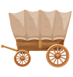 Western style of wagon vector