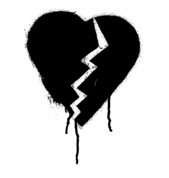 Graffiti Broken heart vector image