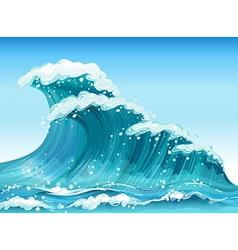 Big waves vector image