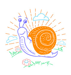 a snail that crawls vector image