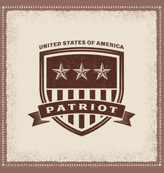 Vintage usa patriot label vector